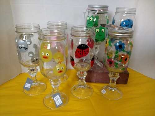 Hillbilly Stemware characters