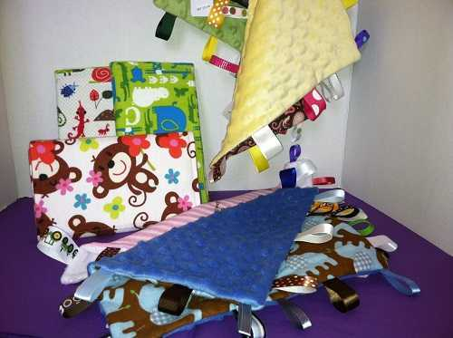 Burp Cloth-Pad and Minkie Blankies