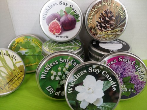 Wickless Soy Candles